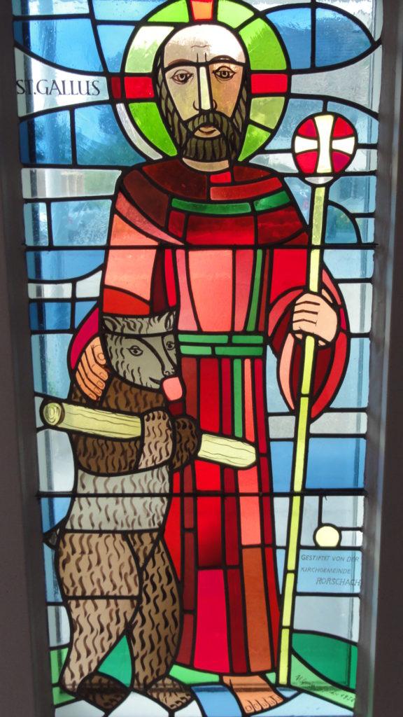 Gallus-Fenster in der Schutzengelkapelle Altenrhein | © Bistum St. Gallen