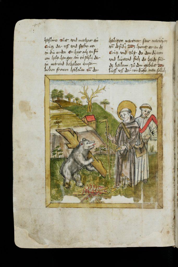 Gallus | St. Gallen, Stiftsbibliothek, Cod. Sang. 602, S. 44