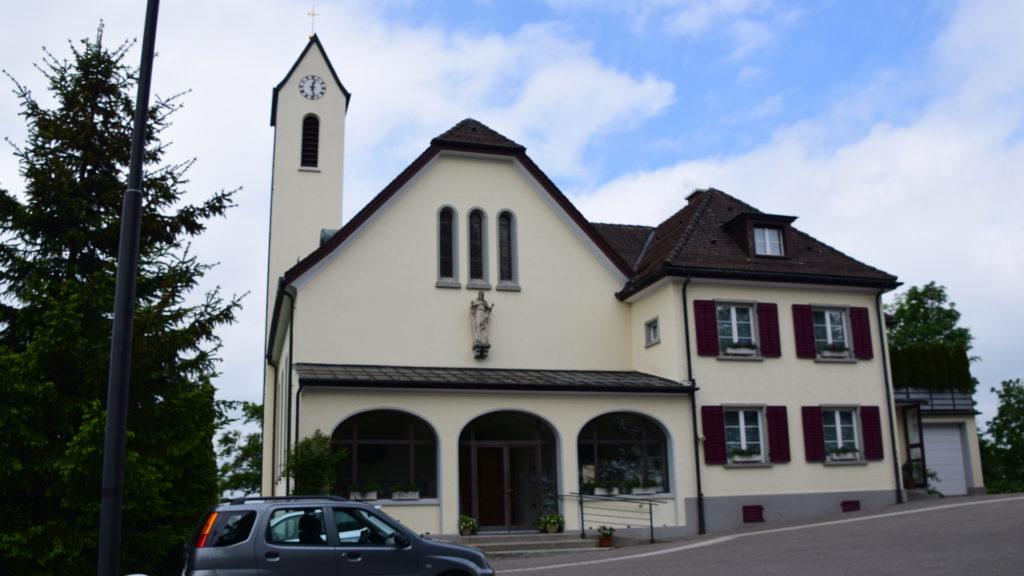 wo einst die Burg stand, befindet sich heute die Kirche