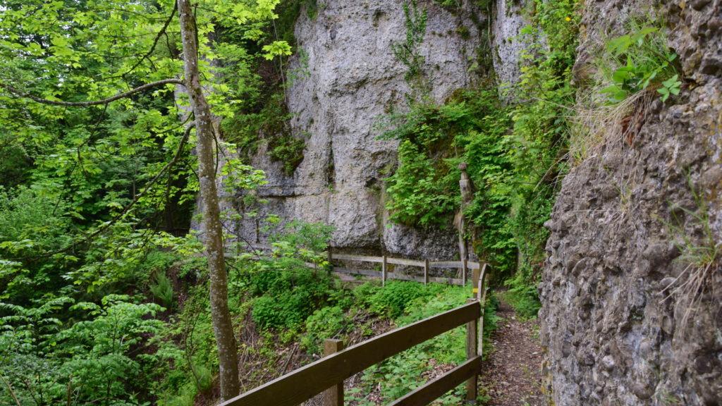 unter der Iddaburg führt ein Weg zur Lourdes-Grotte
