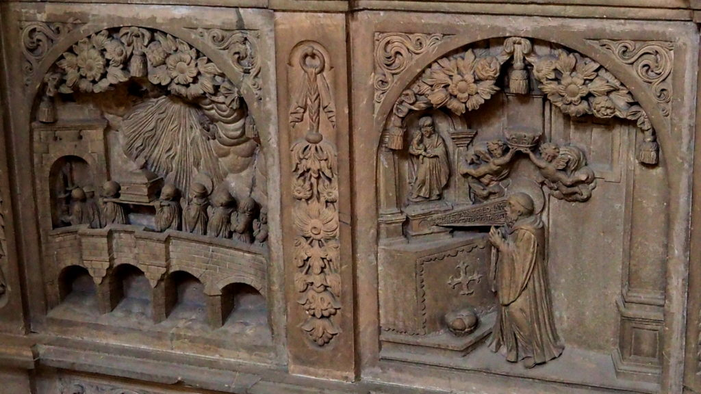 Detail auf dem Sarkophag