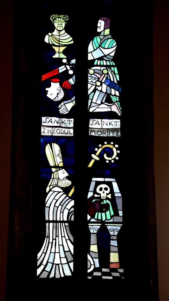 Fenster mit Theodul und Maurice