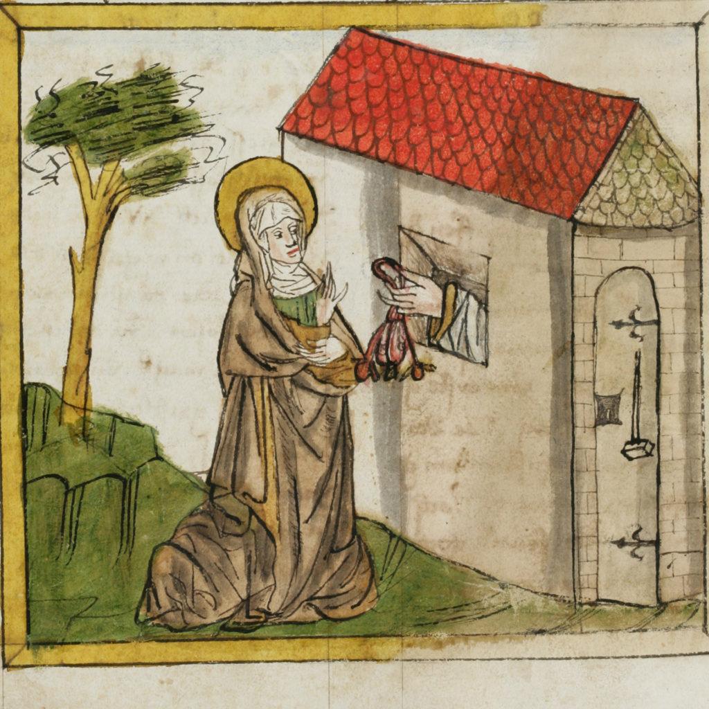 Wiborada | © St. Gallen, Stiftsbibliothek, Cod. Sang. 602, S. 303