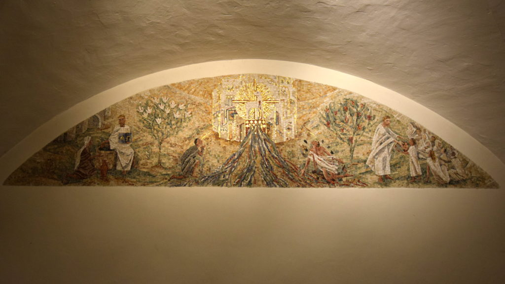 Baptisterium, Mosaik