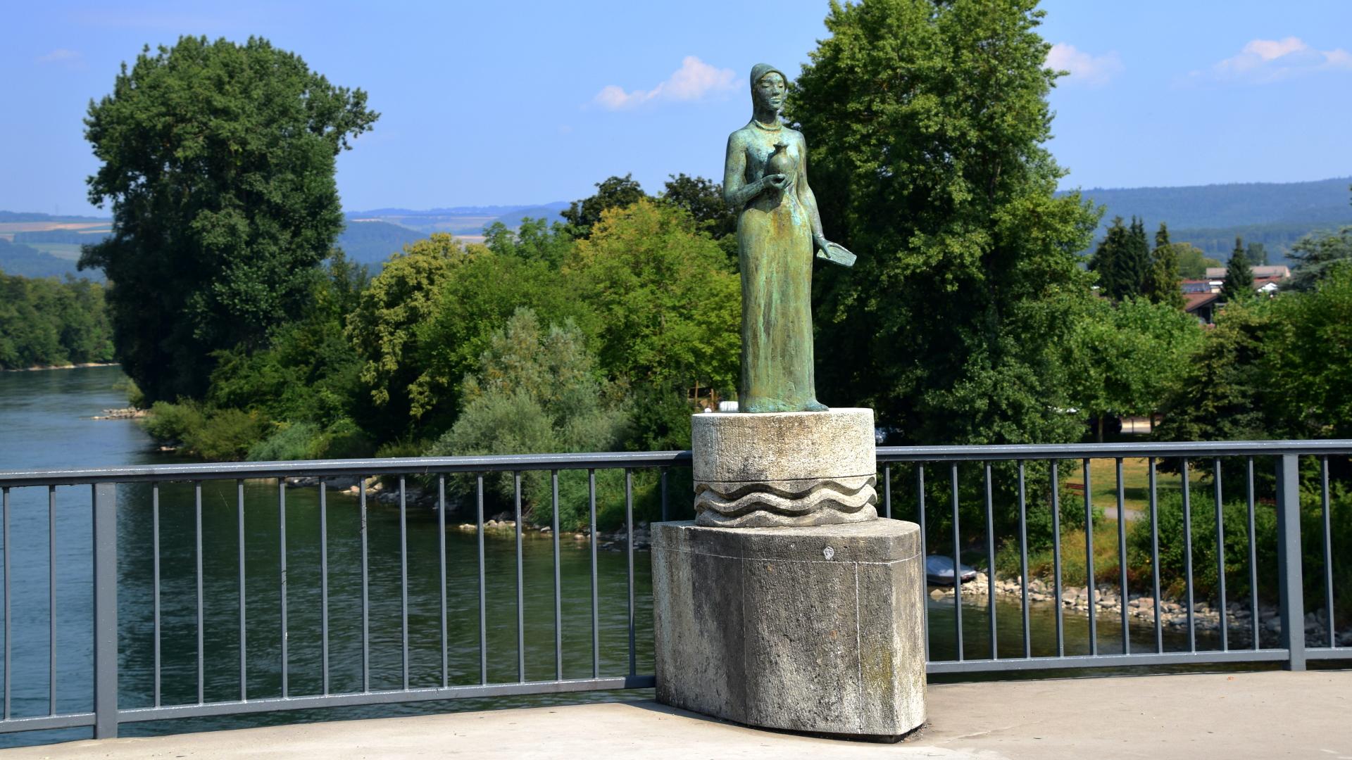 Heilige Verena, auf der Rheinbrücke in Bad Zurzach | © Barbara Fleischmann