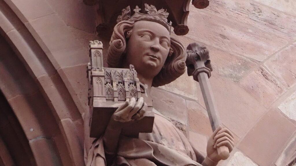 Kirche (Detail Fassade Basler Münster)